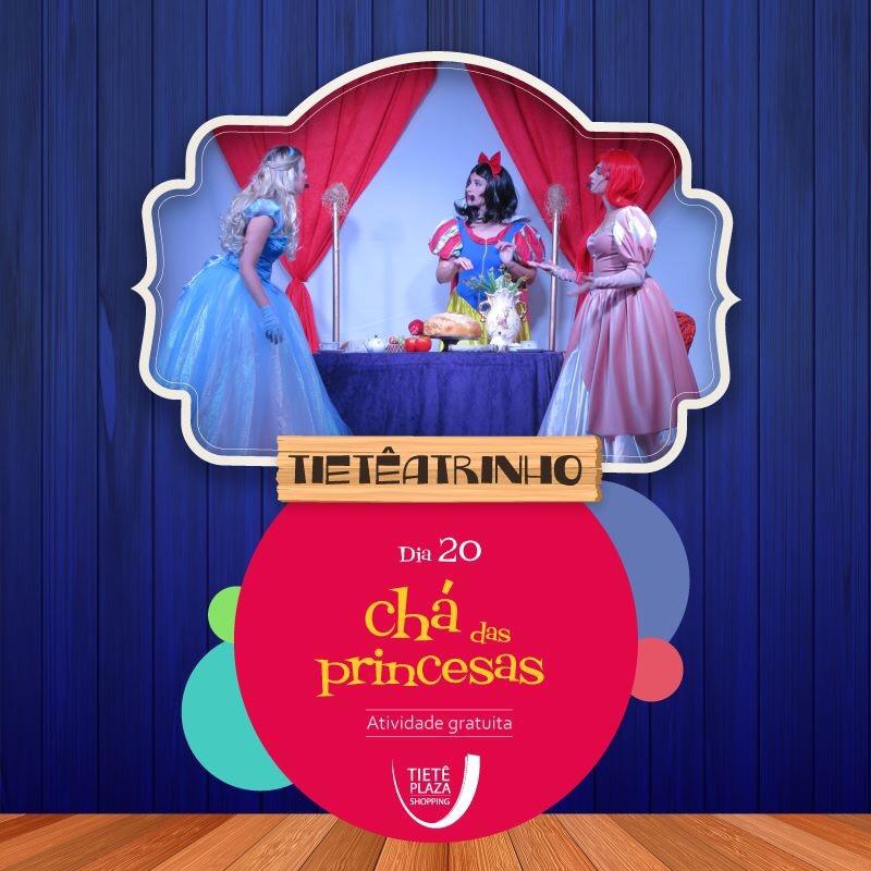 2d903c6e9 Cinderela, Branca de Neve e Ariel resolveram se encontrar para um chá. As  amigas que não se viam a muito tempo se divertem relembrando suas histórias.