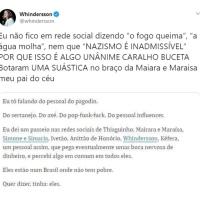 Whindersson Nunes massacra Folha de São Paulo por matéria covarde contra ele e Maiara e Maraísa